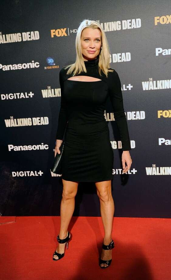 Here's Laurie Holden in 2010, wearing something her ''Walking Dead'' character never gets to wear.