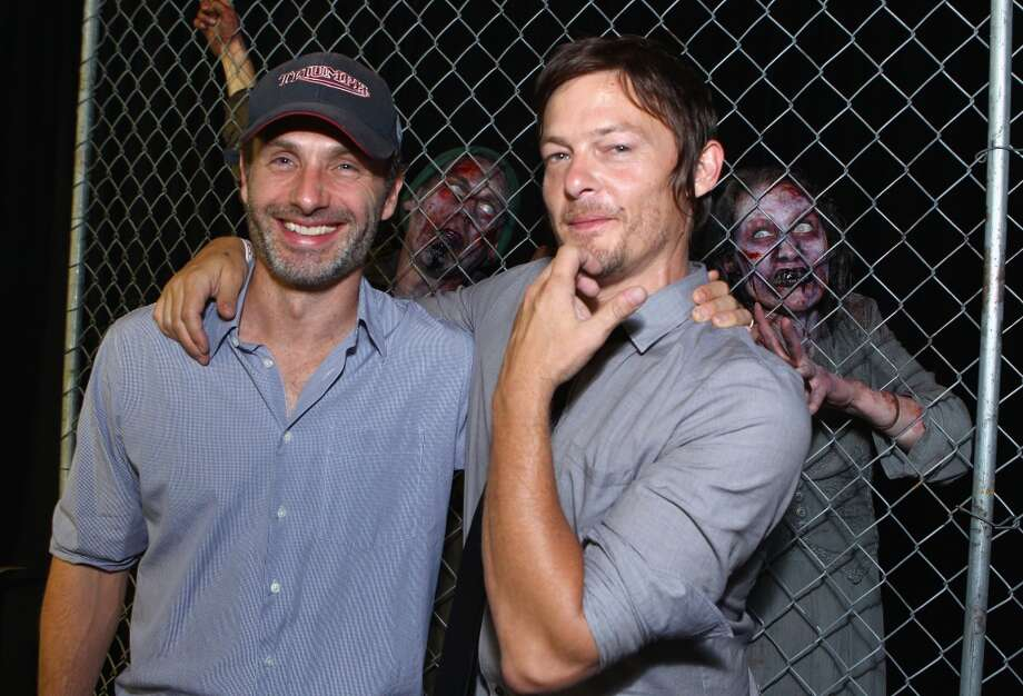 Norman Reedus, right, with co-star Andrew Lincoln in 2012.