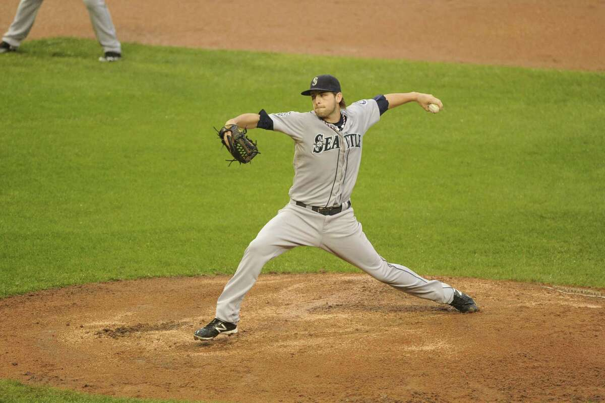 21) The bullpen. The Mariners have a nice blend of lefties Lucas Luetge (pictured), Charlie Furbush and Oliver Perez to go with right-handed smoke from Carter Capps, Stephen Pryor and closer Tom Wilhelmsen.If the starters can make it through an effective six innings, the relievers can finish it off.