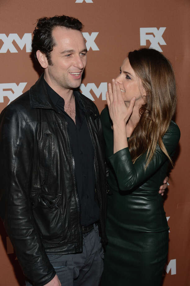 Actors Matthew Rhys and Keri Russell attend the 2013 FX Upfront Bowling Event at Luxe at Lucky Strike Lanes on March 28, 2013 in New York City. Photo: Dimitrios Kambouris, Getty Images / 2013 Getty Images