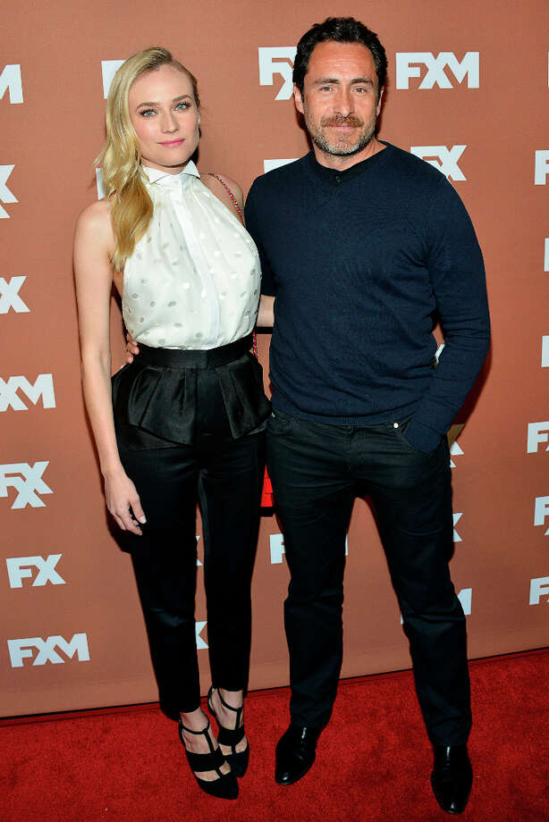 Diane Kruger and Demián Bichir attends the 2013 FX Upfront Bowling Event at Luxe at Lucky Strike Lanes on March 28, 2013 in New York City. Photo: Eugene Gologursky, WireImage / 2013 Eugene Gologursky