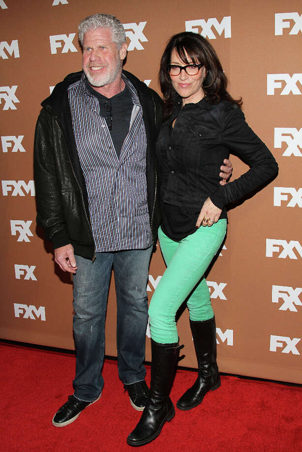 Ron Perlman and Katey Sagal attend the 2013 FX Upfront Bowling Event at Luxe at Lucky Strike Lanes on March 28, 2013 in New York City. Photo: Rob Kim, FilmMagic / 2013 Rob Kim