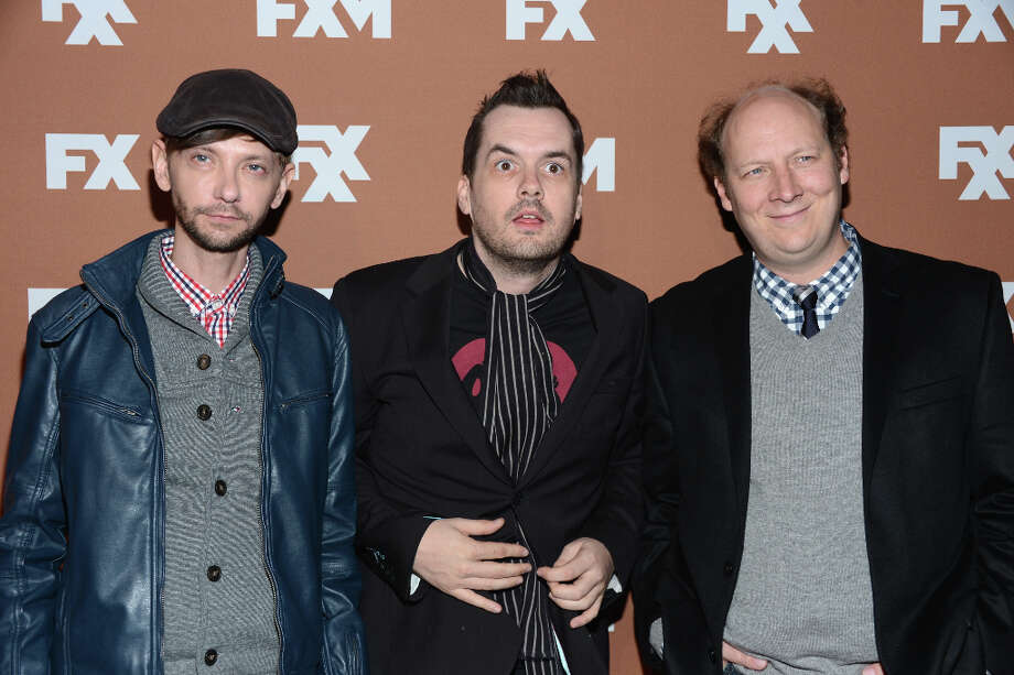 DJ Qualls, Jim Jefferies, and Dan Bakkedahl attend the 2013 FX Upfront Bowling Event at Luxe at Lucky Strike Lanes on March 28, 2013 in New York City. Photo: Dimitrios Kambouris, Getty Images / 2013 Getty Images
