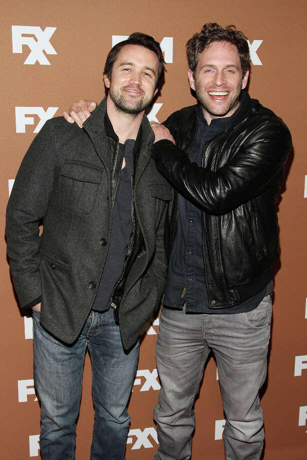 Rob McElhenney (L) and Glenn Howerton attend the 2013 FX Upfront Bowling Event at Luxe at Lucky Strike Lanes on March 28, 2013 in New York City. Photo: Rob Kim, FilmMagic / 2013 Rob Kim