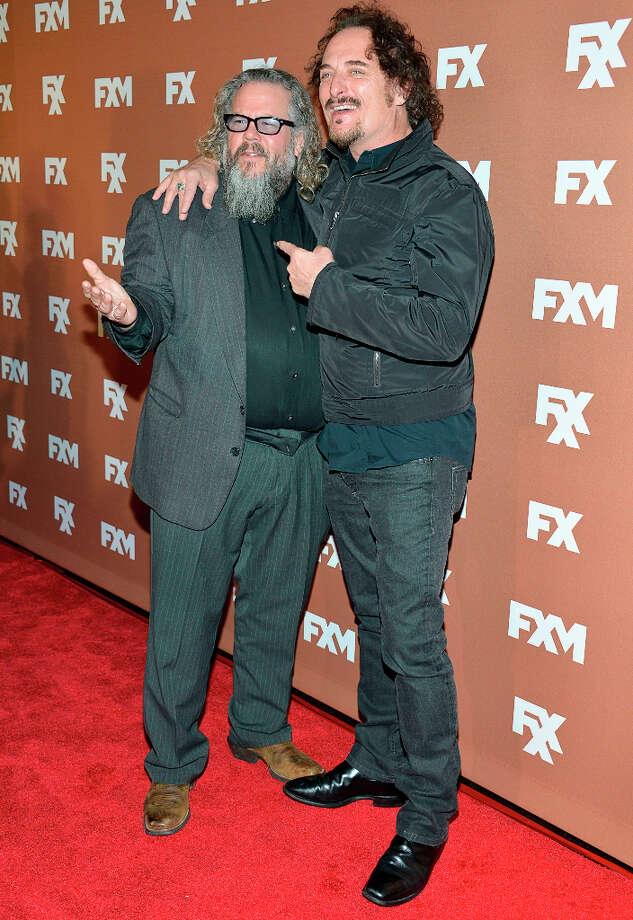Mark Boone Junior and Kim Coates attends the 2013 FX Upfront Bowling Event at Luxe at Lucky Strike Lanes on March 28, 2013 in New York City. Photo: Eugene Gologursky, WireImage / 2013 Eugene Gologursky