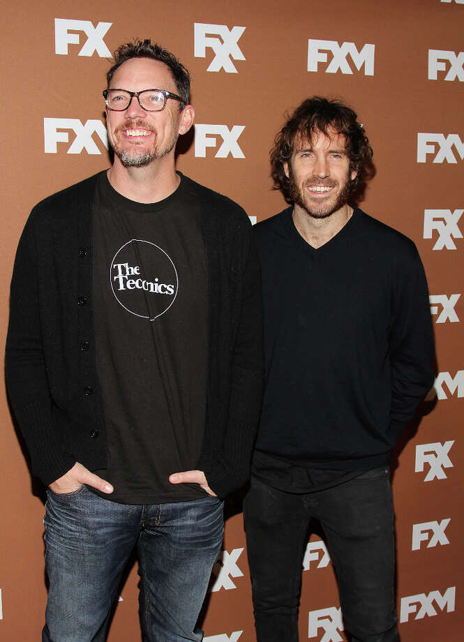 Matthew Lillard (L) and Thomas M. Wright attend the 2013 FX Upfront Bowling Event at Luxe at Lucky Strike Lanes on March 28, 2013 in New York City. Photo: Rob Kim, FilmMagic / 2013 Rob Kim