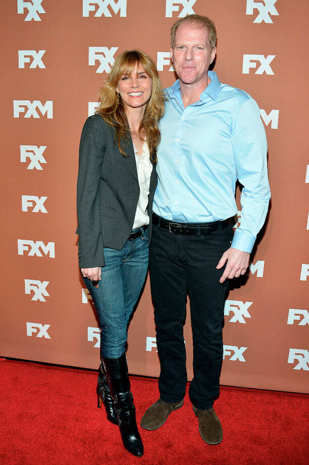 Susan Misner and Noah Emmerich attend the 2013 FX Upfront Bowling Event at Luxe at Lucky Strike Lanes on March 28, 2013 in New York City. Photo: Eugene Gologursky, WireImage / 2013 Eugene Gologursky