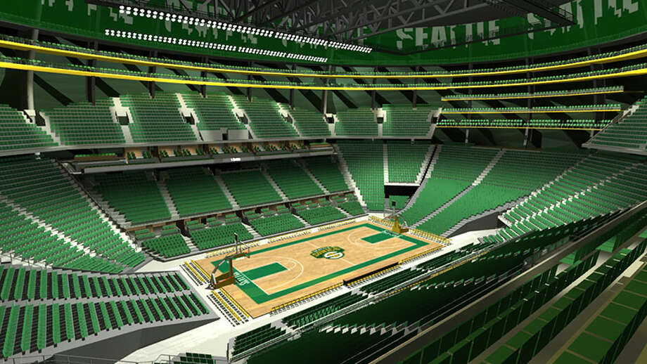 In this rendering, two of the three Sonics Rings are open to fans.