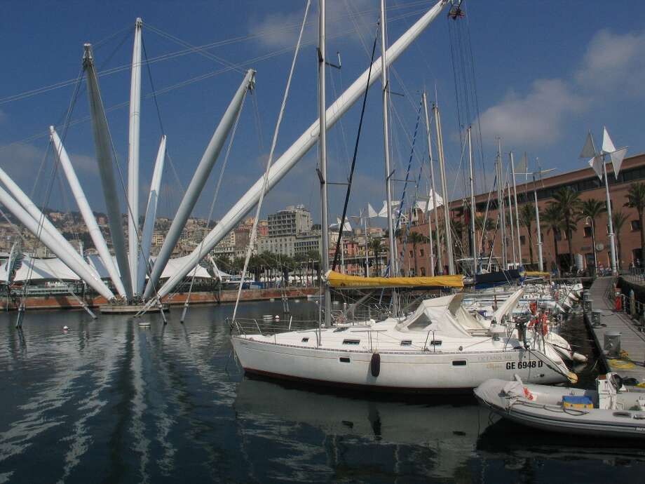 Genoa's colorful and sprawling port. Photo: Spud Hilton, The Chronicle / The Chronicle