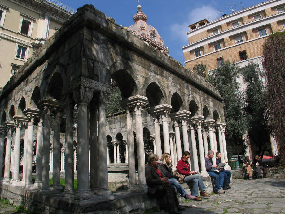 Ruins near the old city gate in Genoa. Photo: Spud Hilton, SFC / The Chronicle