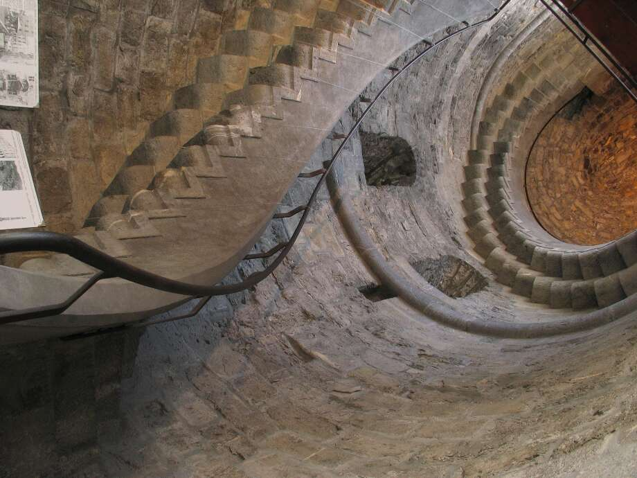 The ancient spiral staircase inside the Porta Soprana. Photo: Spud Hilton, The Chronicle / The Chronicle