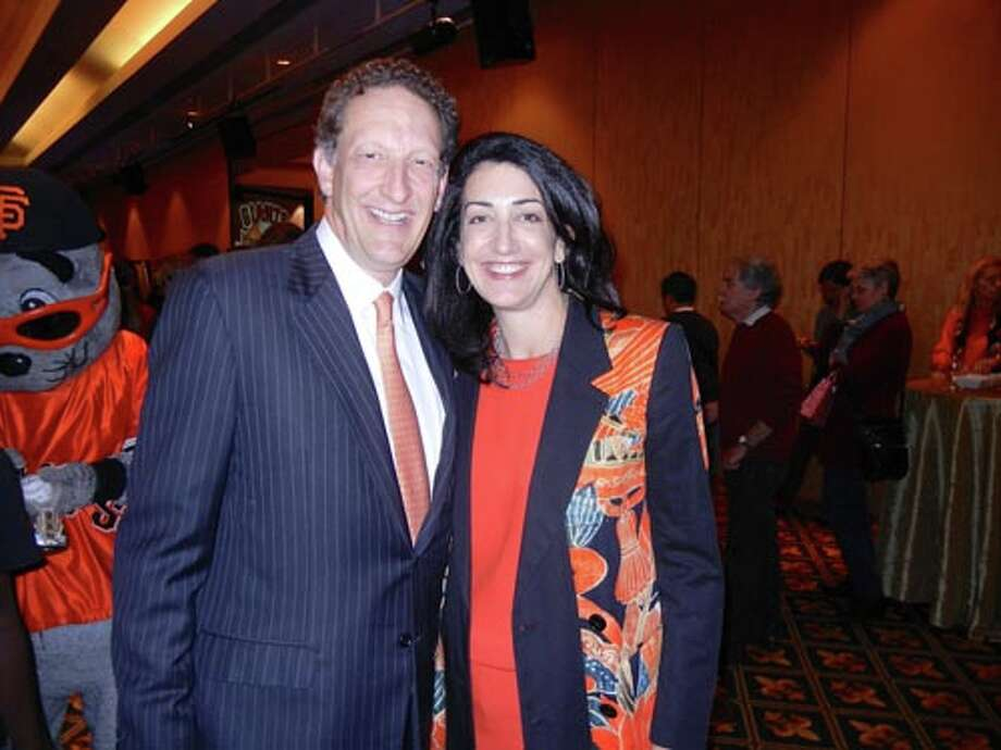 SF Giants President-CEO Larry Baer and his wife, Pamela Baer at the Play Ball Lunch