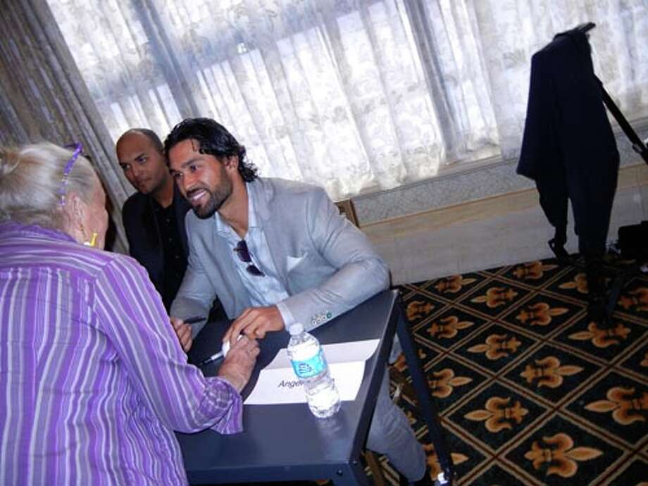 SF Giants outfielder Angel Pagan at the Giants Play Ball Lunch