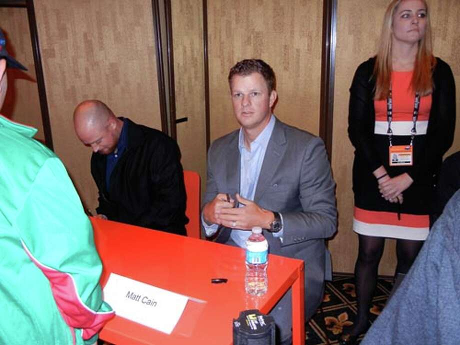 SF Giants pitcher Matt Cain at the Giants Play Ball Lunch