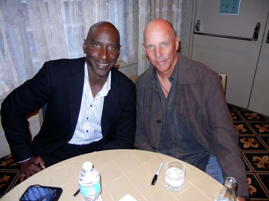 SF Giants First Base Coach Roberto Kelly (left) and Third base coach Tim Flannery at the Giants Play Ball Lunch