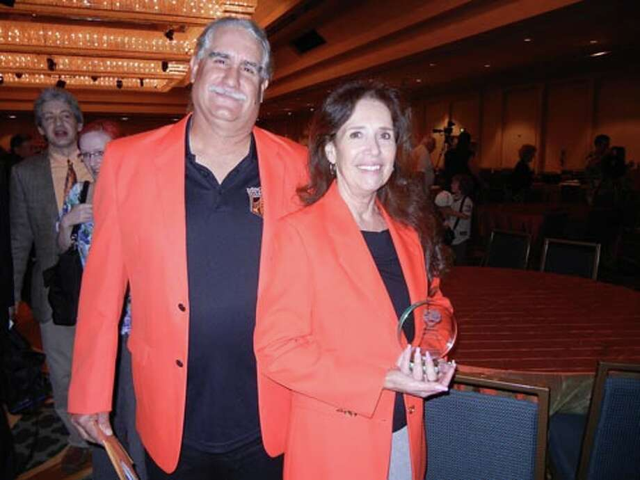 SF Junior Giants coaches Walt and Barbara Velasquez were honored at the Play Ball Lunch