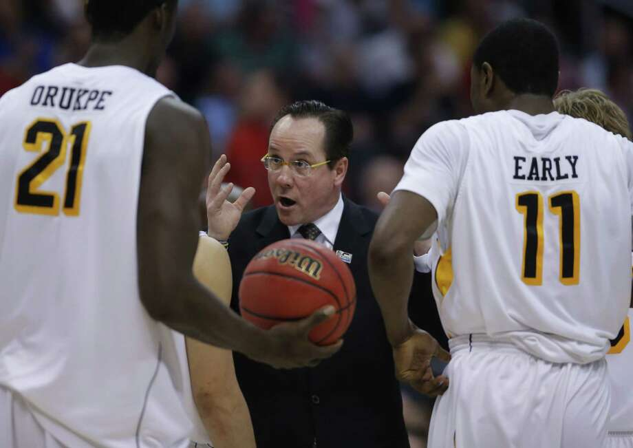 Coach Gregg Marshall, center, has guided Wichita State to its first regional final appearance since 1981. Photo: Jae C. Hong, STF / AP