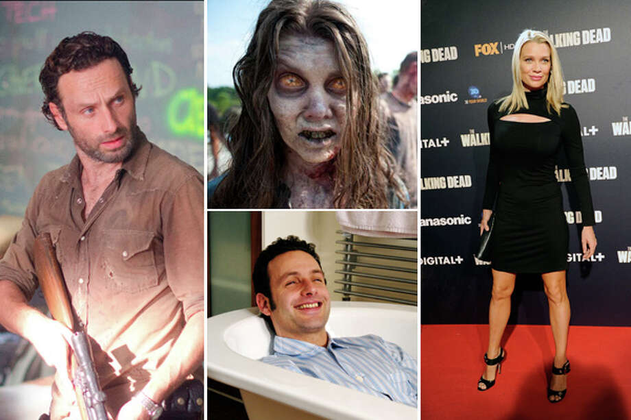 In honor of the season finale of ''The Walking Dead'' Sunday, here's a look at the stars before the hit AMC show, and what they look like when not sweaty-looking and whacking zombies. (Warning: Spoilers ahead).