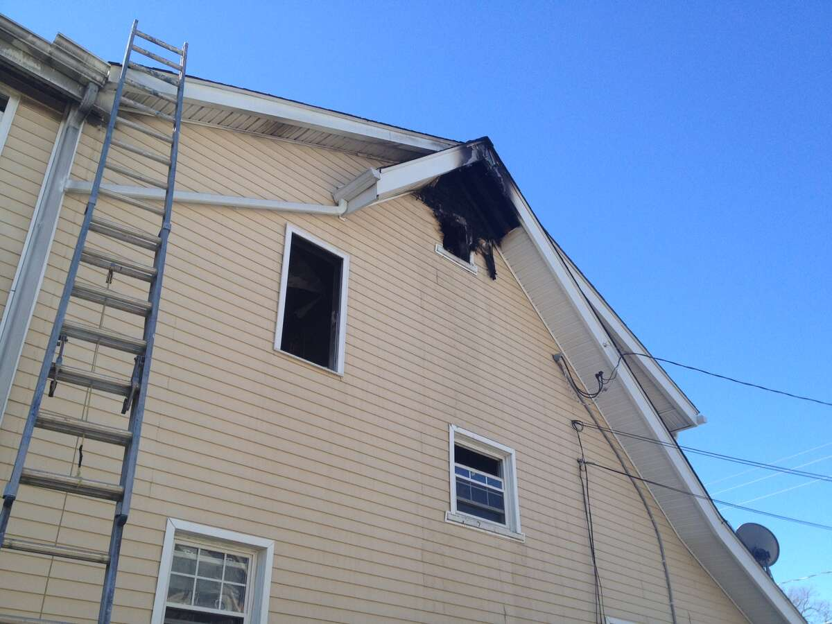 As many as 11 residents of a Quintard Terrace duplex in Stamford, Conn., were displaced following a fire at the residence Friday morning, March 29, 2013. Firefighters were called to 67 Quintard Terrace at 4:49 a.m. for a fire in the attic, according to Stamford Fire & Rescue.