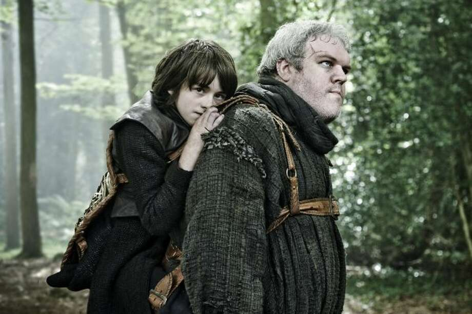"Hodor (Kristian Nairn,right):As Hodor would say, ""Hodor."""