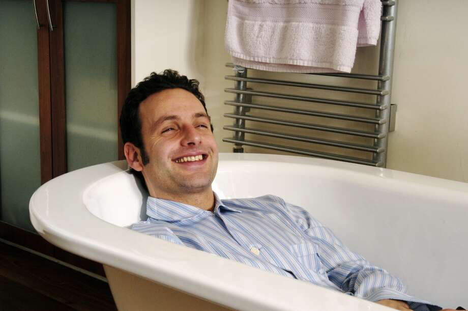 Before slaying zombies, British actor Andrew Lincoln was in British shows ''Teachers'' and ''This Life.'' He's pictured in some kind of ''photo call'' in 2004.