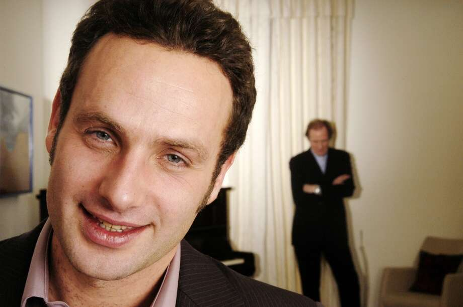 Andrew Lincoln in 2004, with Bill Nighy in the background.