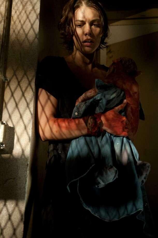 Lauren Cohan, as Maggie Greene, in Season 3.