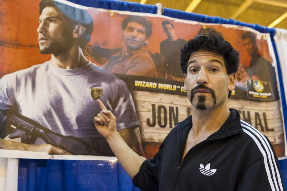 Here's undead Jon Bernthal with hair, at the Wizard World New Orleans Comic Con 2012. Before ''The Walking Dead,'' he was in the show ''The Class.'' He will appear in the movie ''The Wolf of Wall Street.''