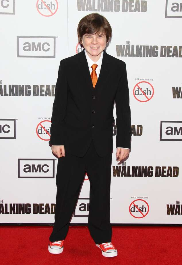 Chandler Riggs without the sheriff's hat. He plays Carl Grimes.