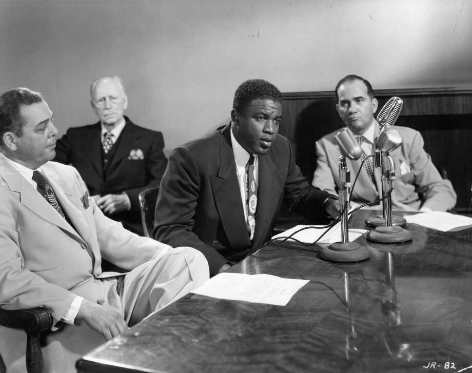 Second baseman: Jackie Robinson in The Jackie Robinson Story — He would be played by Denzel Washington today. Photo: Archive Photos, Getty Images / 2011 Getty Images