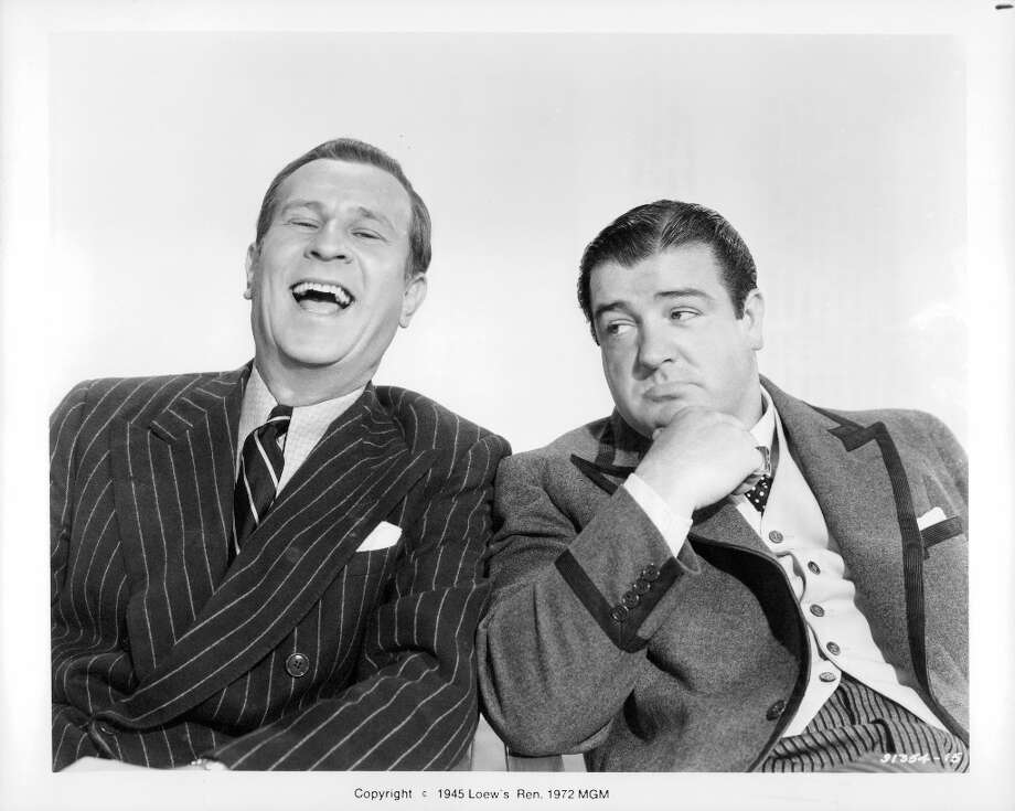 Manager: Dexter Broadhurst (Bud Abbott) in The Naughty Nineties — Broadhurst teams with Sebastian Dinwiddie (Lou Costello) in Who's on first? Photo: Michael Ochs Archives, Getty Images / 2011 Getty Images