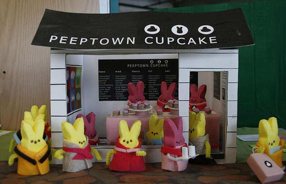 Peeptown Cupcake