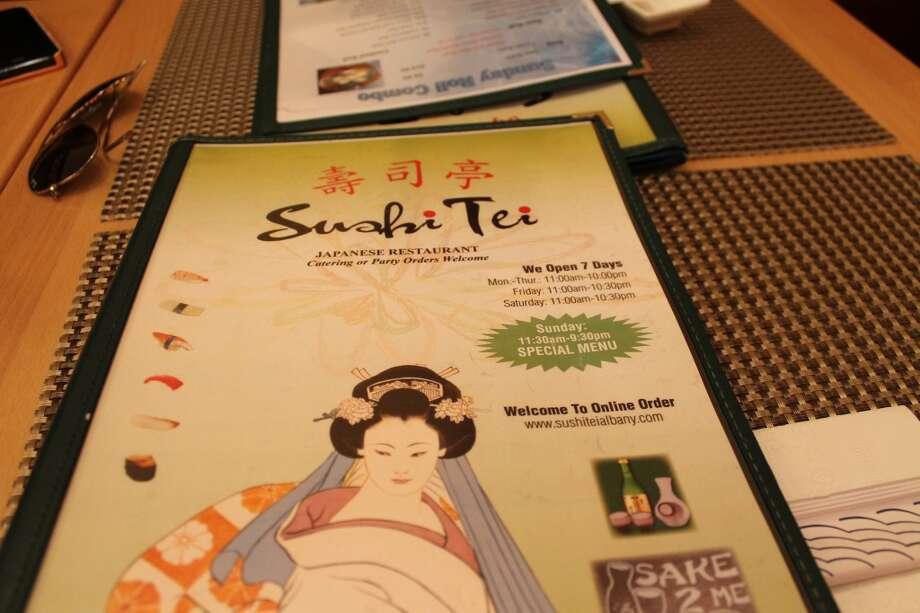 A Sushi Tei menu.