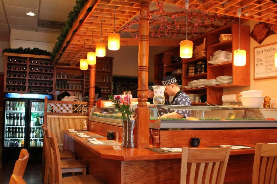 The sushi bar where the magic happens.