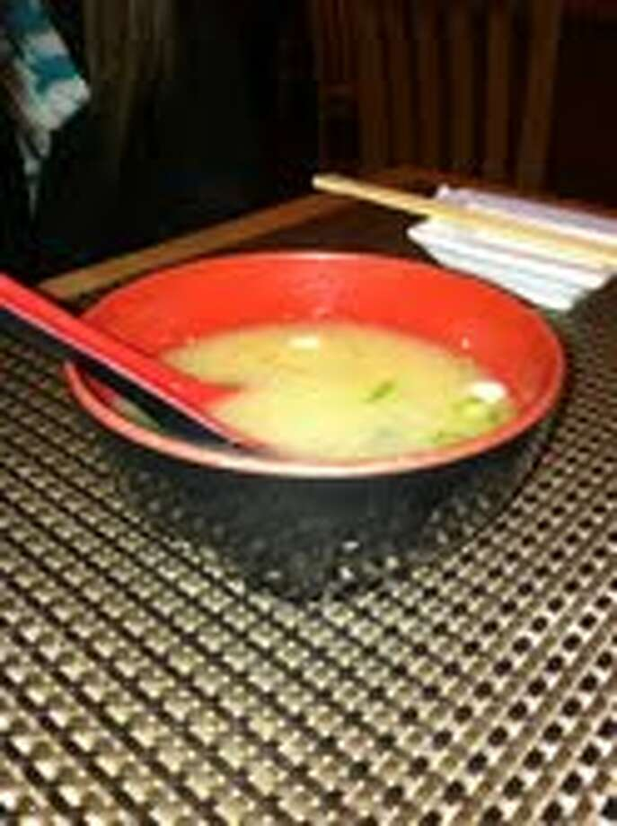 A bowl of miso soup.