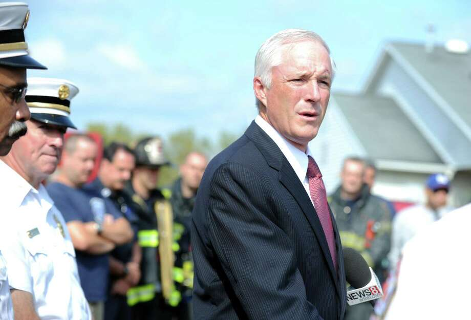 """Faced with a possible $10 million cut in state aid in the governor's budget, Bridgeport Mayor Bill Finch has already presented two unpalatable responses to residents: Open their wallets or weather cuts to public safety.""""You can't cut $10 million out of this budget without reducing the number of police and fire, or increasing property taxes. It's just not possible,"""" Finch said recently following a speech to the business community. """"I lead with those (departments) because they're the biggest."""" Photo: Autumn Driscoll / Connecticut Post"""