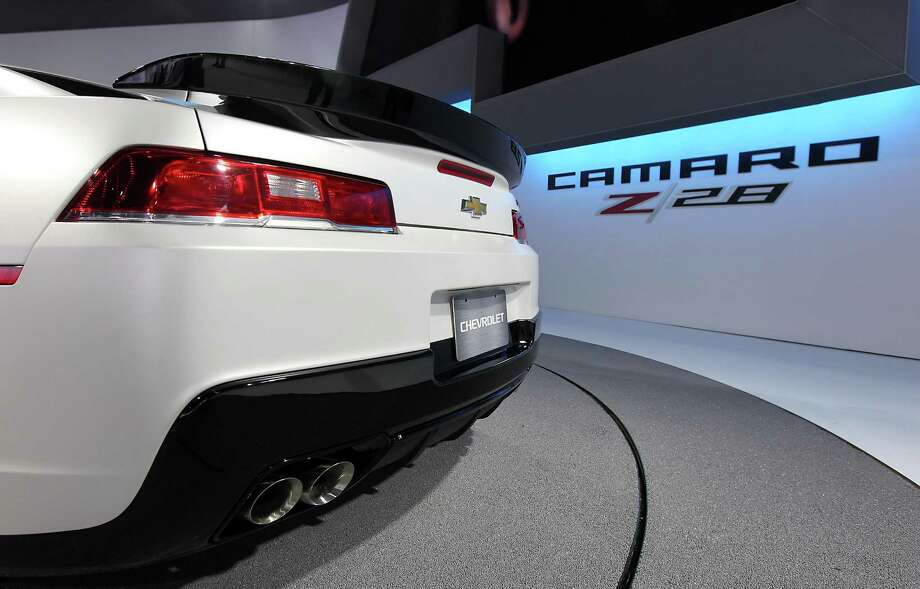 The rear of a Chevrolet 2014 Camaro Z28 vehicle is seen while on display at the company's booth during the 2013 New York International Auto Show in New York, U.S., on Thursday, March 28, 2013. The 113th New York International Auto Show, which runs from March 29 to April 7, features 1,000 vehicles as well the latest in tech, safety and innovation. Photographer: Jin Lee/Bloomberg Photo: Jin Lee, Bloomberg / © 2013 Bloomberg Finance LP