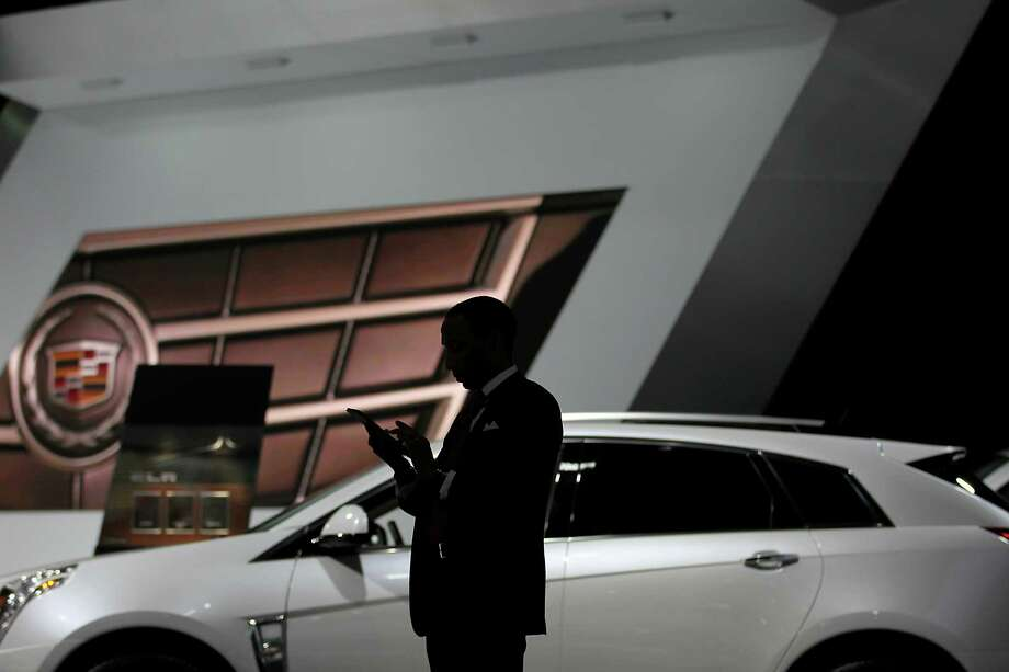 The view from the Cadillac booth. Photo: Jin Lee, Bloomberg / © 2013 Bloomberg Finance LP