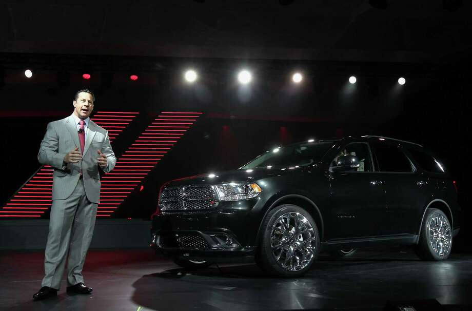 Reid Bigland, chief executive officer of Chrysler Canada Inc., speaks during the unveiling of the Dodge Durango sport-utility vehicle. Photo: Jin Lee, Bloomberg / © 2013 Bloomberg Finance LP