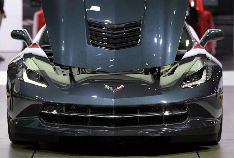 The hood of the 2014 Chevrolet Corvette sits open while on display at the company's booth during the 2013 New York International Auto Show in New York, U.S., on Thursday, March 28, 2013. The 113th New York International Auto Show, which runs from March 29 to April 7, features 1,000 vehicles as well the latest in tech, safety and innovation. Photographer: Jin Lee/Bloomberg Photo: Jin Lee, Bloomberg / © 2013 Bloomberg Finance LP