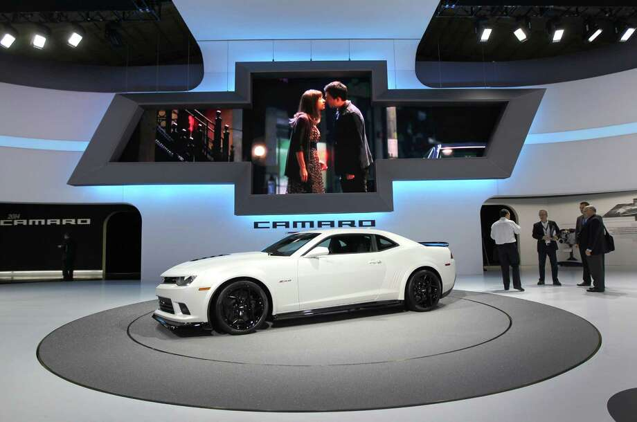 The Chevrolet 2014 Camaro Z28 vehicle sits on display at the company's booth during the 2013 New York International Auto Show in New York, U.S., on Thursday, March 28, 2013. The 113th New York International Auto Show, which runs from March 29 to April 7, features 1,000 vehicles as well the latest in tech, safety and innovation. Photographer: Jin Lee/Bloomberg Photo: Jin Lee, Bloomberg / © 2013 Bloomberg Finance LP