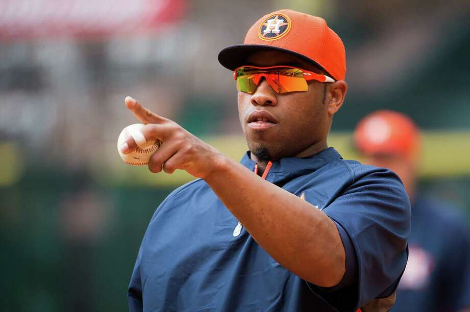 Astros first-base prospect Jonathan Singleton was shielded from the media after a failed drug test cost him a suspension, but his future remains bright. Photo: Smiley N. Pool / © 2013  Smiley N. Pool