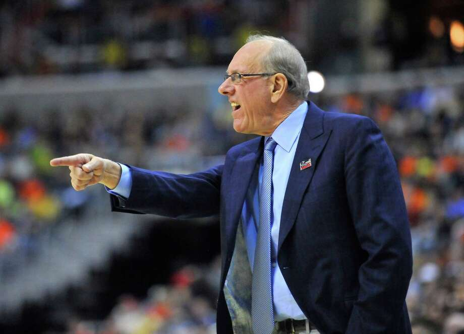 Syracuse head coach Jim Boeheim directs his players against Marquette in the first half of the NCAA Tournament East Regional final at the Verizon Center in Washington, D.C., Saturday, March 30, 2013. (Mark Gail/MCT) Photo: Mark Gail, McClatchy-Tribune News Service / MCT