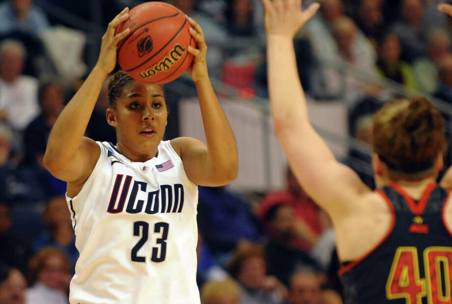 Women's NCAA Tournament Regional Semifinals between University of Connecticut and University of Maryland at the Webster Bank Arena in Bridgeport, Conn. on Saturday March 30, 2013. Photo: Christian Abraham / Connecticut Post
