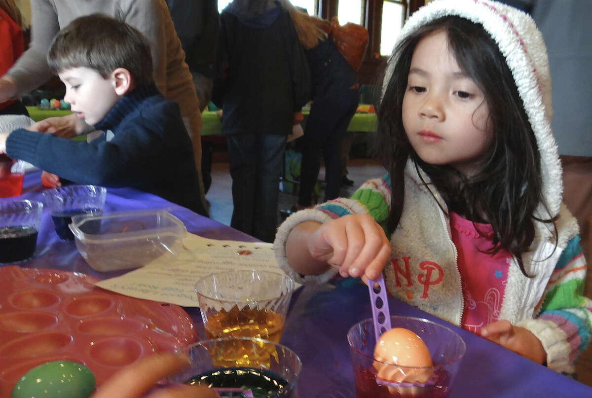 The First Congregational Church of New Milford on Main Street will hold community family egg dyeing in fellowship hall (bring own eggs) April 18 from noon to 1 p.m. Find out what other Easter events the church has planned.