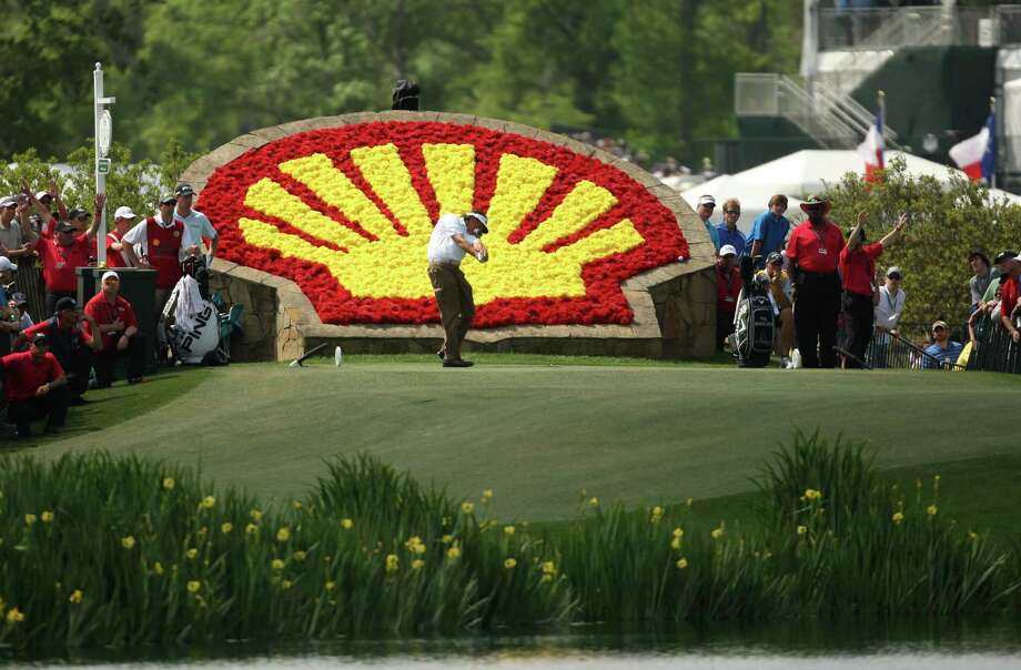 Phil Mickelson tees off on No. 18 during the third round of the Shell Houston Open, Saturday, March 30, 2013 at the Redstone Tournament Course in Humble. (Photo: Eric Christian Smith/For the Houston Chronicle) Photo: Eric Christian Smith, For The Chronicle