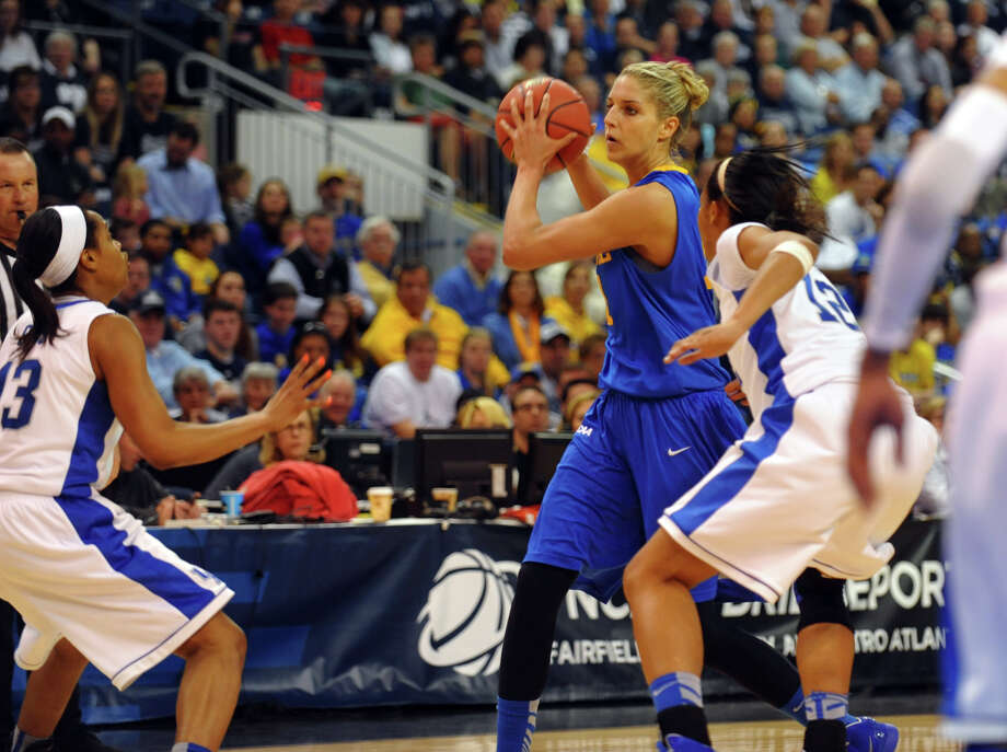University of Delaware's Elena Delle Donne, during women's NCAA Tournament Regional Semifinal action against University of Kentucky at the Webster Bank Arena in Bridgeport, Conn. on Saturday March 30, 2013. Photo: Christian Abraham / Connecticut Post