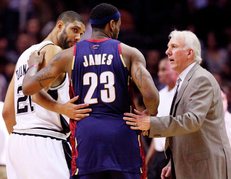 LeBron James has gone head to head with the Spurs a number of times - including one playoff series that was much more memorable for Spurs fans than it was for King James. Photo: EDWARD A. ORNELAS, SAN ANTONIO EXPRESS-NEWS / eaornelas@express-news.net