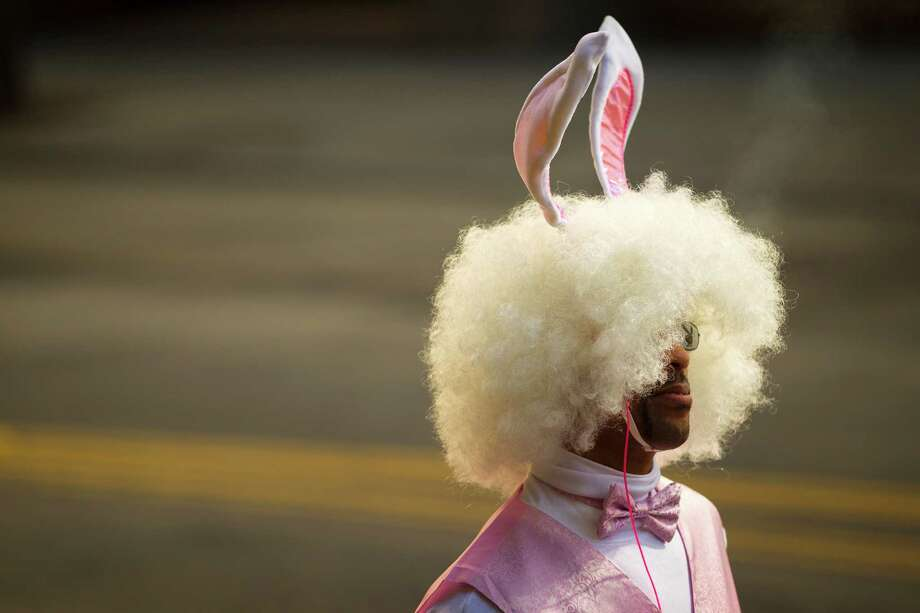 A nicotine-indulging bunny exhales smoke. Photo: JORDAN STEAD / SEATTLEPI.COM
