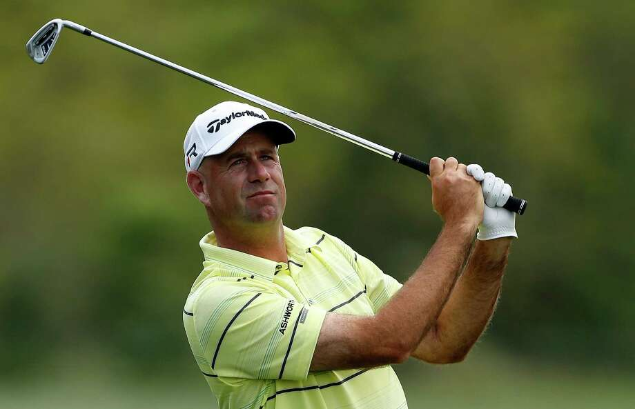 HUMBLE, TX - MARCH 29:  Stewart Cink hits his approach shot on the fifth hole during the second round of the Shell Houston Open at the Redstone Golf Club on March 29, 2013 in Humble, Texas.  (Photo by Scott Halleran/Getty Images) Photo: Scott Halleran